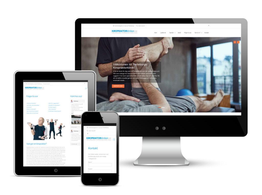 Kiropraktorkliniken web