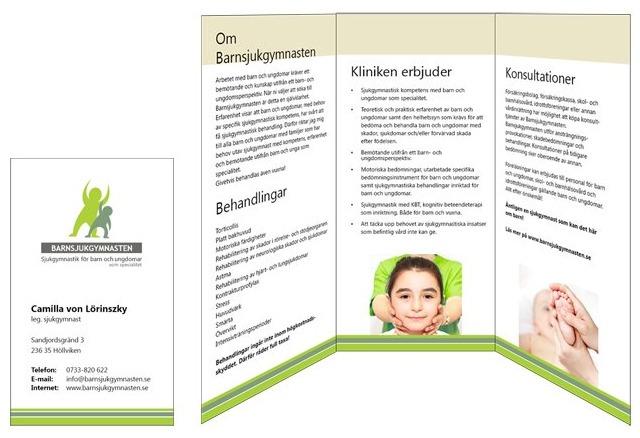 Barnsjukgymnasten folder