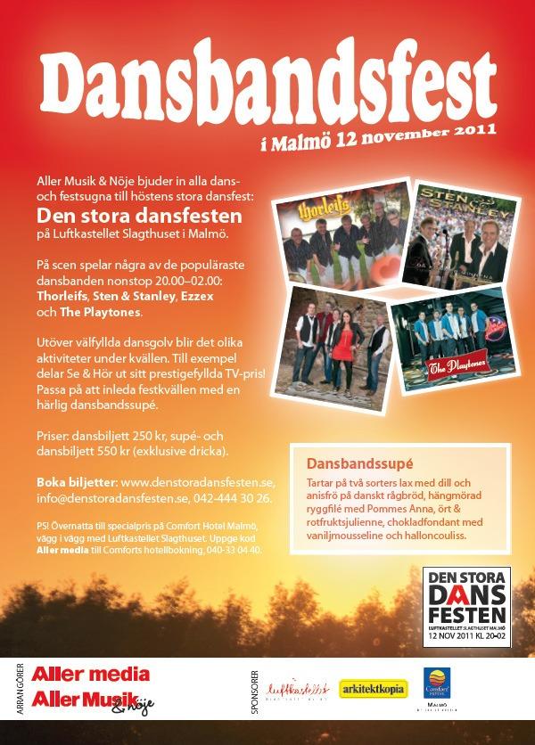 Dansbandsfest annons