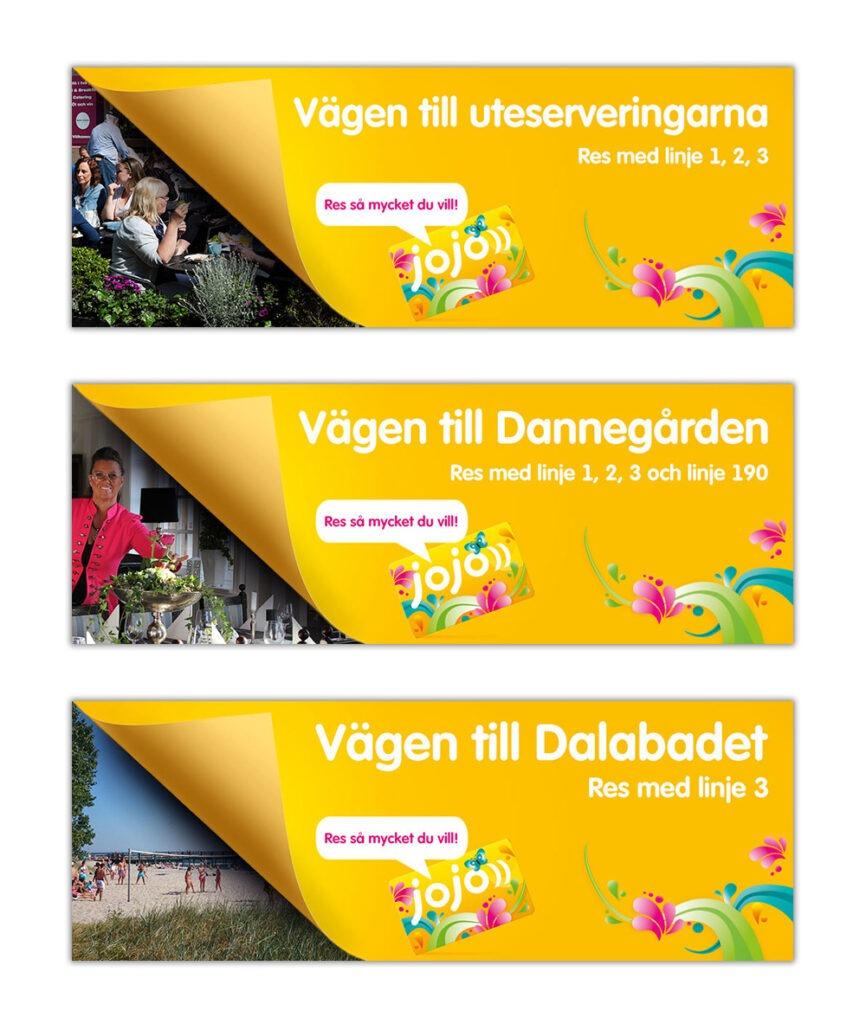 Skånetrafiken banners