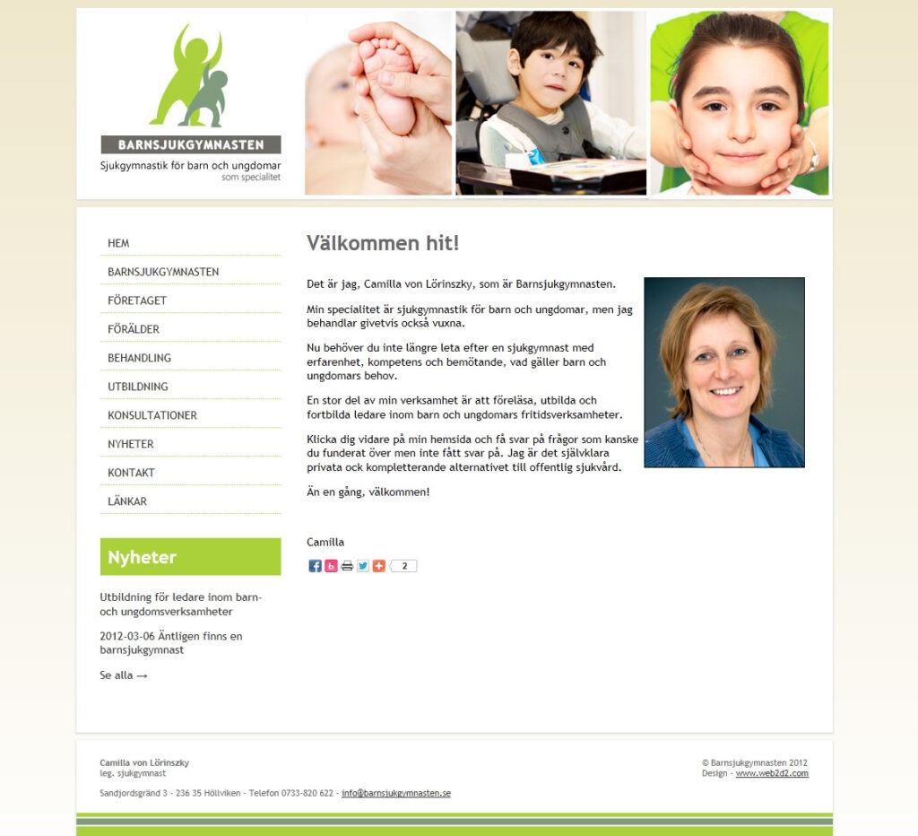 Barnsjukgymnasten web