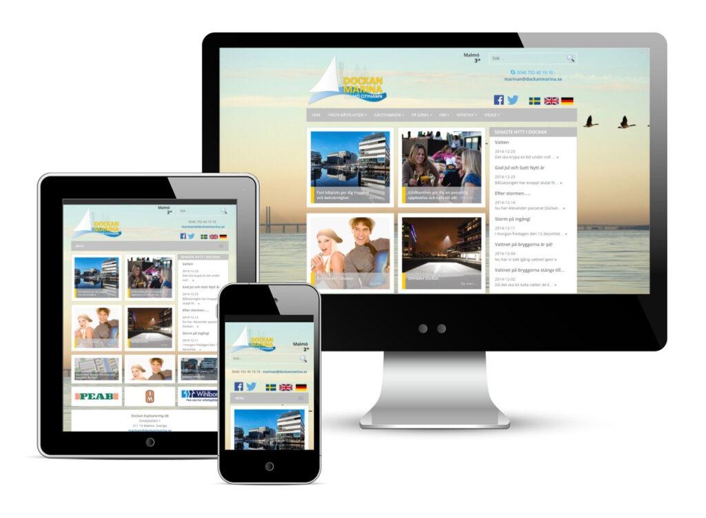 Dockan Marina web