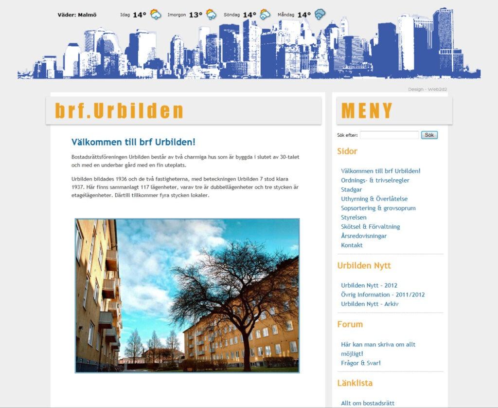 brf. Urbilden web