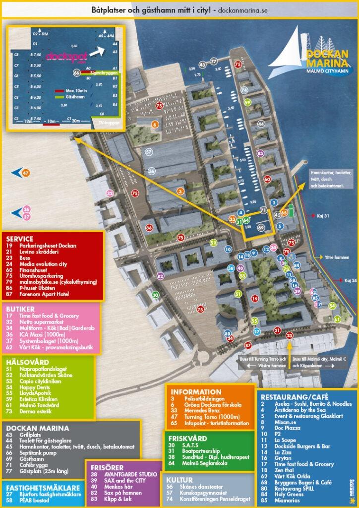 Dockan Marina områdeskarta