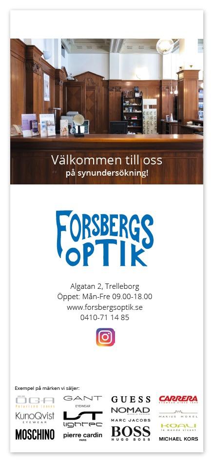 Forsbergs Optik folder
