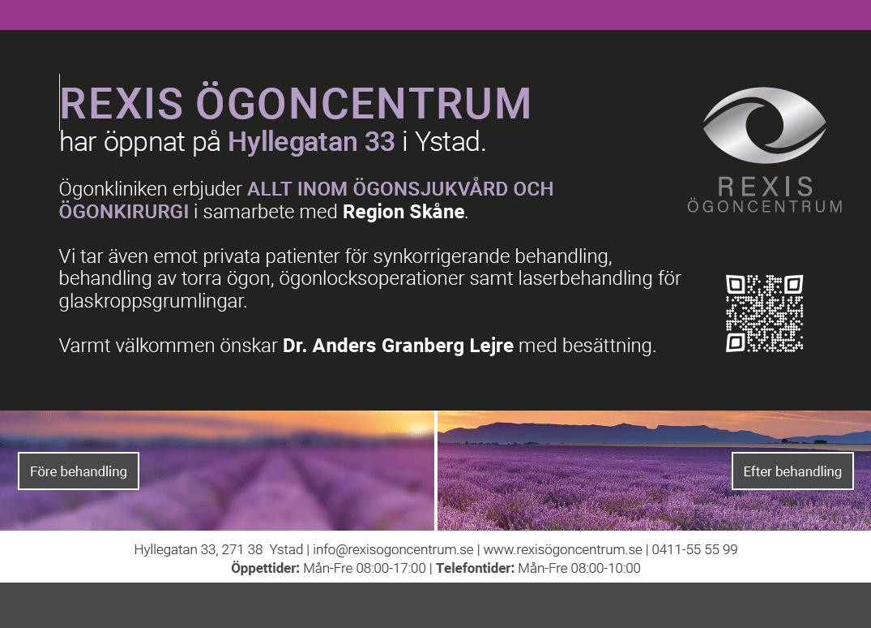 Rexis Ögoncentrum annons